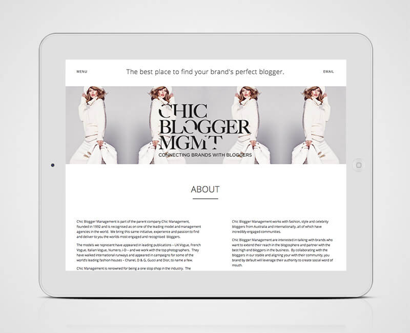 chic about page